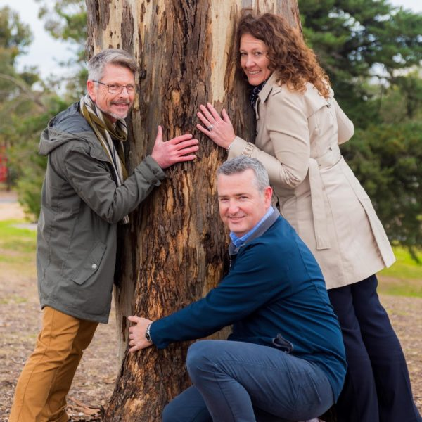 """John Willis, Andy Sloane and Rohan Hogan, part of the team bringing """"Connecting"""" together for the Greater Bendigo Curriculum for Change"""